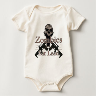 Zombies eat lead baby bodysuit