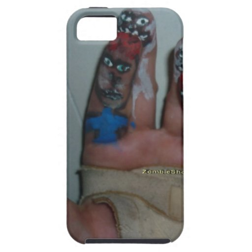Zombies Eating Brains Funny Zombie Fingers Painted iPhone 5 Cover