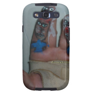 Zombies Eating Brains Funny Zombie Fingers Painted Samsung Galaxy S3 Case