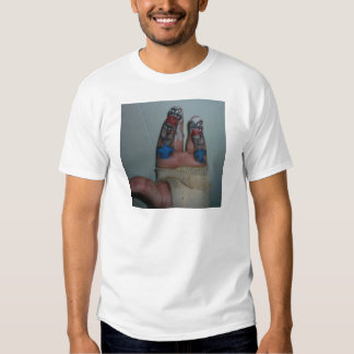 Zombies Eating Brains Funny Zombie Fingers Painted Tee Shirt