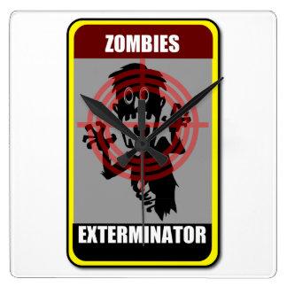 Zombies Exterminator Clock