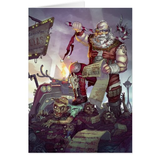 Zombies Holiday Card