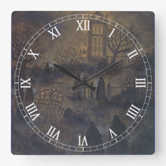 Zombies Square Roman Numerals Clock