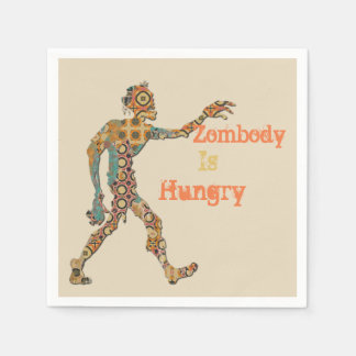Zombody Is Hungry Disposable Napkins