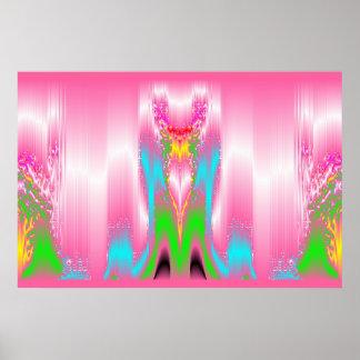 Zones de Caresses Roses Print