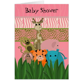 Zoo Animal Baby Shower Invitation