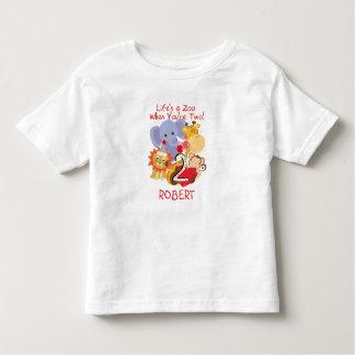 Zoo Animals 2nd Birthday Kids Customised T-shirt