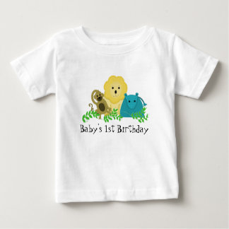 Zoo Animals Baby's 1st Birthday Baby T-Shirt