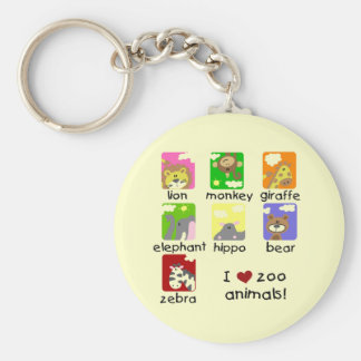 Zoo Animals Tshirts and Gifts Key Ring