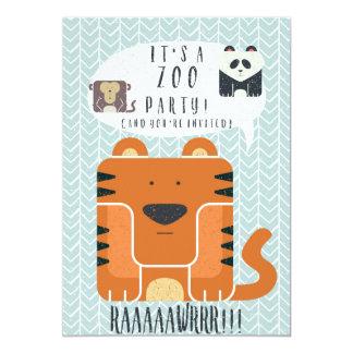 Zoo Party themed Birthday Invitation! Card