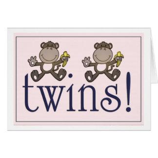 Zoo themed twin boy card ...