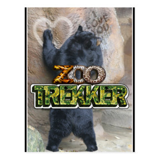 ZOO TREKKER - LOVER OF THE WILD ANIMALS POSTCARD