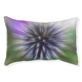 Zoom Flower Purple and Green Digital Art