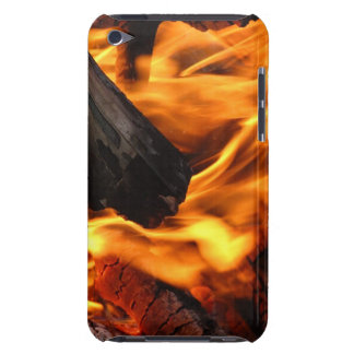 Zoomed into the fire IPod touch case