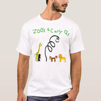 Zoo's and Curly Q's White T T-Shirt