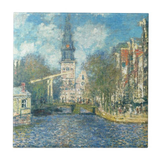 Zuiderkerk in Amsterdam by Claude Monet Tile