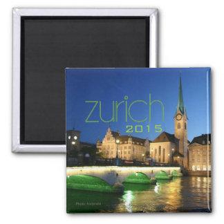 Zurich Switzerland Souvenir Magnet Change Year