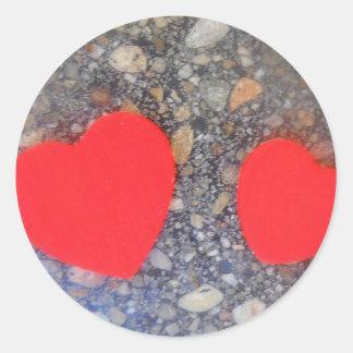 zwei Herzen two hearts Classic Round Sticker